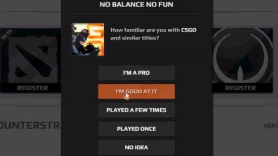 Выберете свой уровень игры