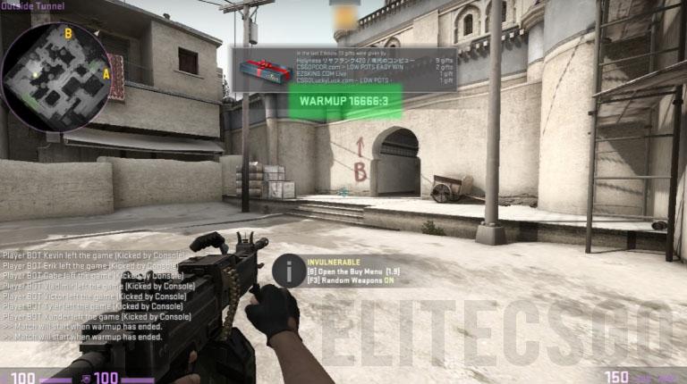 Как сделать бесконечную разминку в cs go
